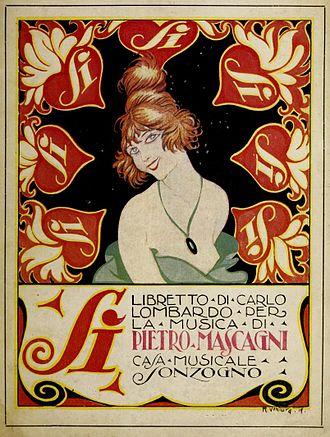 Sì (operetta) - Libretto cover, published by Sonzogno in 1919