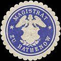 Siegelmarke Magistrat zu Rathenow (Engel) W0392416.jpg