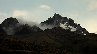 Venezuelan Andes - A view of Venezuelan Andes from Tabay