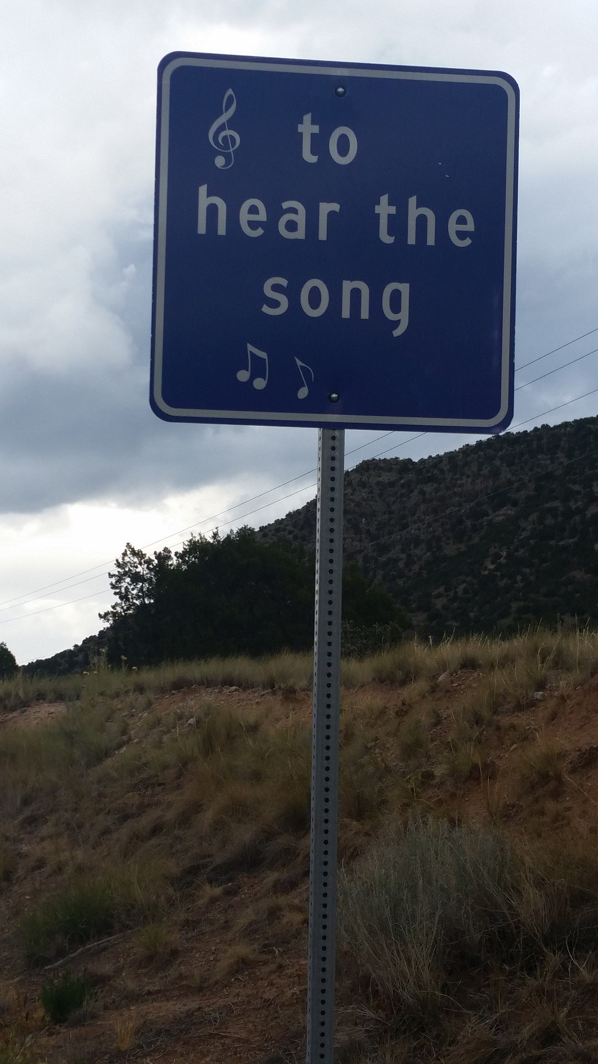 Sign beside Tijeras Musical Road.jpg