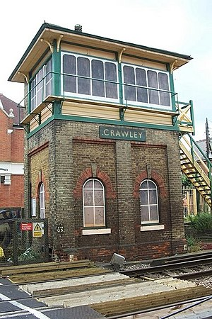 John Saxby - The signal box at Crawley built by Saxby and Farmer in 1877