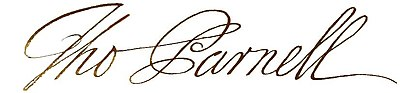 Signature of Thomas Parnell