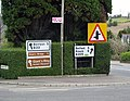Signs, Ballylesson - geograph.org.uk - 756940.jpg