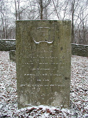 Silas Dinsmoor - Dinsmoor's gravestone at the Dinsmore Homestead