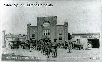Silver Spring, Maryland - The Silver Spring Armory in 1917, constructed by E. Brooke Lee