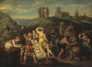 Simon de Vos - The Israelites after Crossing t...