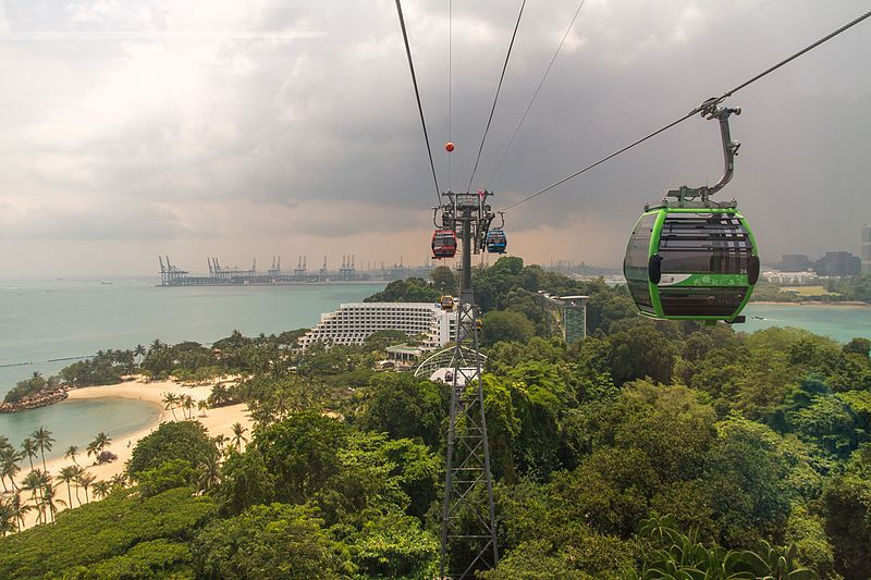 Sentosa Cable Car in Singapore