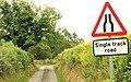 Single-track road near Loughbrickland - geograph.org.uk - 1386659.jpg