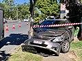 Single-vehicle accident Fairfield, Queensland, 2019.jpg