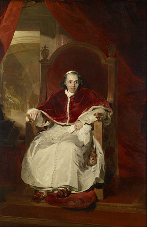 Papal Slippers - Pope Pius VII wearing papal slippers (1819, Thomas Lawrence, Royal Collection, Windsor).