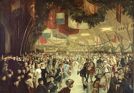Skating Carnival, Victoria Rink, Montreal, QC, painted composite - William Notman - Google Cultural Institute