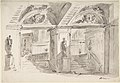 Sketch of a Palace's Interior's Foreshortening with Stairs, Statues and Ornaments MET DP807988.jpg