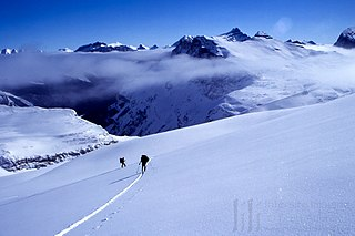 Waputik Icefield Glacier in the Park Ranges of the Canadian Rockies in Alberta and British Columbia, Canada
