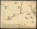 Skizze einer Wegeverlegung bei Delkenheim als Teil des Weges zwischen Diedenbergen und Mainz, 17. Jahrhundert.jpg