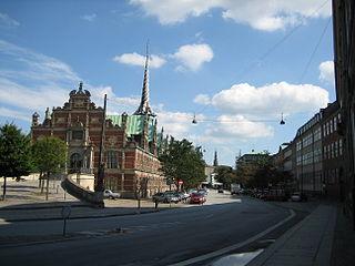 Slotsholmsgade street in Copenhagen