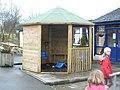 Smoking shelter - geograph.org.uk - 663698.jpg