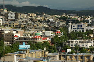 Sanandaj City in Kurdistan, Iran
