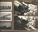 Snapshots of men and aircraft at Camp Mohawk, one of the Royal Flying Corps' pilot training camps near Deseronto, Ontario. One of the crashed aircraft in the lower left carries the number C604. The (6079348913).jpg