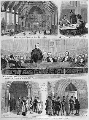 National Association for the Promotion of Social Science - The Social Science Congress 1879, illustration from The Graphic