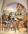 Sodoma - Life of St Benedict, Scene 30 - Benedict Foretells the Destruction of Montecassino - WGA21579.jpg
