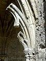 Soissons (02), abbaye Saint-Jean-des-Vignes, cloître gothique, galerie ouest, fragment du remplage d'une arcade.jpg