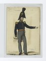 Soldier in uniform - Blue jacket with gold buttons and epaulettes, orange sash and grey pants (NYPL b14896507-85517).tiff
