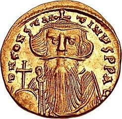 Solidus Constans II (obverse)
