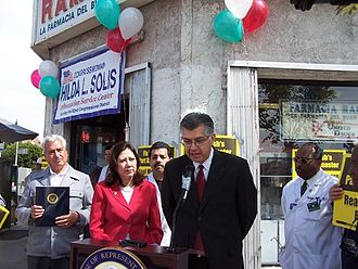 Hilda Solis - Solis at a 2006 appearance with local pharmacists concerned with Medicare Part D implementation