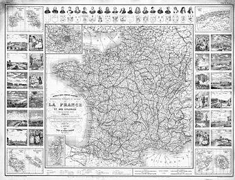 Die Dritte Französische Republik 1885 mit Kolonien