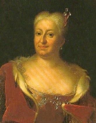 Bützow - Sophie Charlotte of Hesse-Kassel around 1725