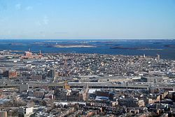 South Boston from the air