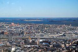 South Boston depuis les airs