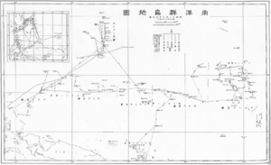 South Pacific Mandate - Japanese map of the South Pacific Mandate in the 1930s