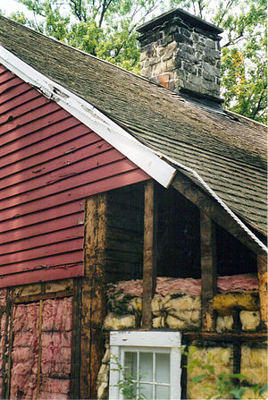 Siding - Clapboards applied to framing without a layer of sheathing (sheeting).