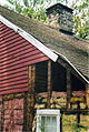 Southeast view of original rear wall with clapboards 2003.JPG