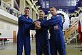 Soyuz MS-02 crew at the Gagarin Cosmonaut Training Center in Star City.jpg
