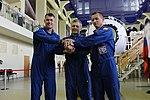 Soyuz MS-02 crew at the Gagarin Cosmonaut Training Center in Star City.jpg