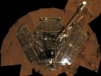 Cleaning event - Overhead shot of Spirit without accumulated dust (November 2008)