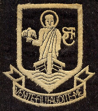 St Columba's College, St Albans - School uniform badge, circa 1971
