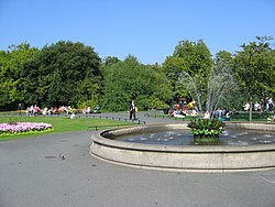 Local Art is sometimes displayed around the perimeter of St. Stephen's Green park