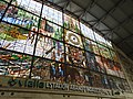 Stained Glass in Train Station - Bilbao - Biscay - Spain (14610619631).jpg