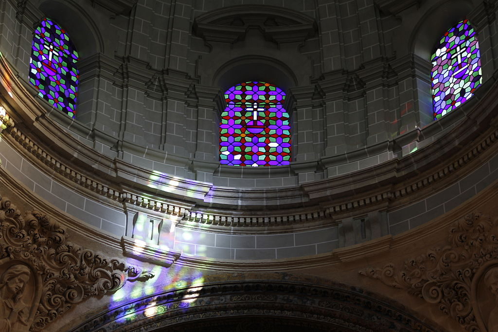 Stained glass windows - Iglesia del Salvador - Seville.JPG