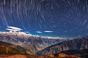 Langtang National Park - Starry night in Langtang National Park