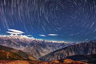 Langtang National Park - Starry night in Langtang National Park