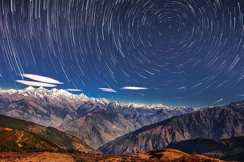 Starry night in Langtang National Park.jpg