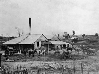 Charters Towers - Crushing works at Enterprise Mill, 1877