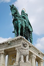Equestrian statue of Stephen I of Hungary in Budapest