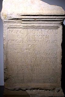 Manius Acilius Glabrio Gnaeus Cornelius Severus