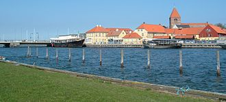 Stege, Denmark - View of Stege across Stege Nor