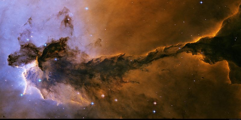 Part of the eagle nebula, M16, located on the cusp of Scutum and Sagittarius